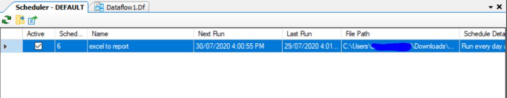 last run Workflow scheduling Data extraction