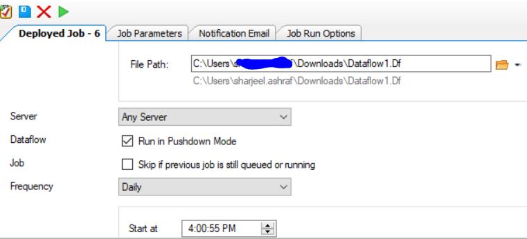 Job Workflow scheduling Data extraction Centerprise